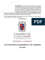 Plan Municipal Desarrollo 2015 2018