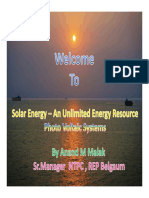 Solar Pv-renewable Energy Prgramme by Ntpc