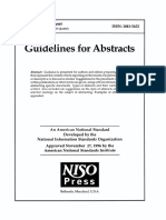 Guidelines for Abstracts