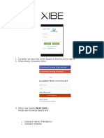 XIBE New Login Process