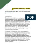 Consideration of Cumulative Impacts
