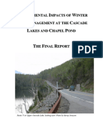 Cascade Lakes Final Report