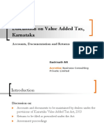 Presentation on Accounts Documentation and Returns (Karnataka Value Added Tax)