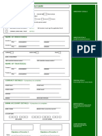 One Private Investment Application Form (SCMF)