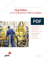 Pwc Auto m and a Insights
