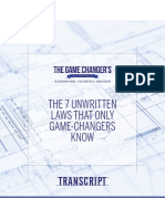 The 7 Unwritten Laws That Only Game Changers Know Transcript
