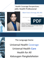 Young Public Health Professional Perspective on UHC