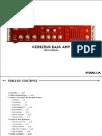 Cerberus Bass Amp Manual