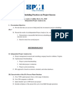 Effects of Scheduling Practices on Project Sucess