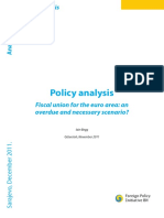 Fiscal union for the euro area