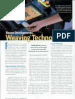 Recent Developments in Weaving Technology