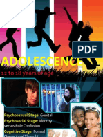 Growth & Development - ADOLESCENCE