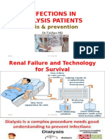INFECTIONS IN DIALYSIS PATIENTSbasis & prevention by Dr.T.V.Rao MD