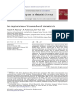 Ion implantation of titanium based biomaterials