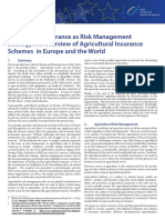 Agricultural Insurance as Risk Management Strategy