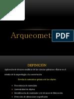 Analisis en Arqueometria