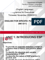 BBI3211_Unit 1 Intro 15 Nov 2009