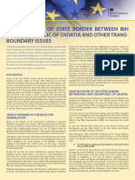 Identification of State Border between BiH and the Republic of Croatia and Other Trans-boundary Issues