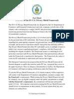 Eu-US Privacy Shield Fact Sheet