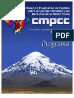 Programa Conferencia Mundial de los pueblos sobre el Cambio Climático Final