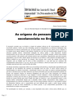 As origens do pensamento escolanovista no Brasil - Ramon Ferreira Santana (2014)