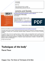 Marcel Mauss Techniques of the Body 1