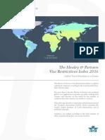 Ranking restricciones de Visa