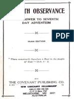 Sabbath Observance, 1914
