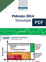 Tamaulipas Pobreza 2014