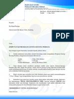 Surat Jemputan Ibu Bapa Ke Gotong Royong