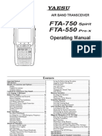Manual Yaesu FTA 550-750