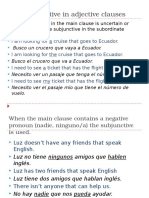 the subjunctive in adjective clauses spiii