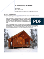 Tips for Building Log Homes