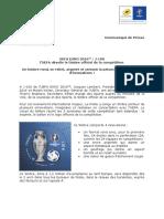 Euro Foot Timbre Annonce Communiqué de Presse