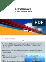 Chapter 1.1 Introduction - Petroleum