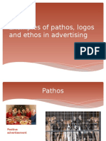 Examples of Pathos, logos and ehtos in advertising