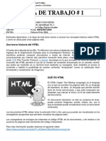 Guia No. 1 - Introduccion HTML
