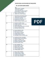 Relación de Grupos Para Las Rotaciones de Psiquiatría Modificado