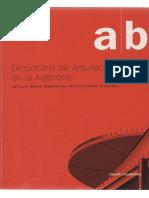 LIERNUR Diccionario Arquitectura Argentina