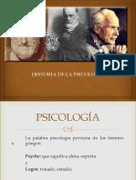 Historia y Genralidades de La Psicologia