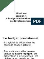 4 La Budgétisation