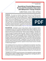 Quantifying Potential Measurement Errors and Uncertainties Associated with Bathymetric Change Analysis
