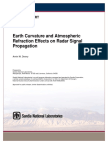 Earth Curvature and Atmospheric Refraction Effects on Radar Signal Propagation