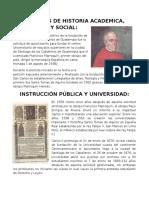 340 Años de Historia Academica