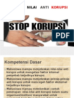 Nilai Nilai Anti Korupsi