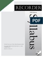 Recorder Syllabus 2008 ABRSM