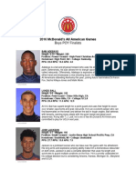 2016 Morgan Wootten Player of the Year Finalists