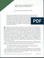 Corporate social responsibility - Schwartz y Carroll (2003)