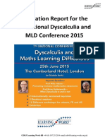 7th Dyscalculia Conference Report 2015