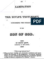 An Examination of the Divine Testimony by Henry Grew, 1824
